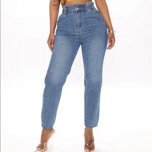 Fashion Nova Paperbag waist jeans